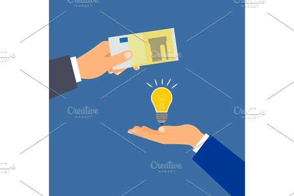 Buy euro money idea, business concept