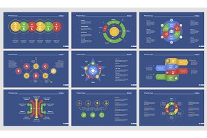 Nine Strategy Charts Slide Templates Set