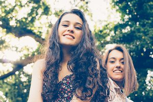 Teen girls portrait