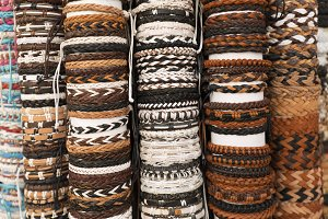 Bracelets at a market in Saint Jean