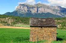 View of Ainsa.Huesca.Spain