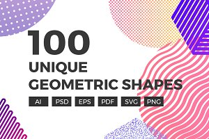 100 Unique Geometric Shapes