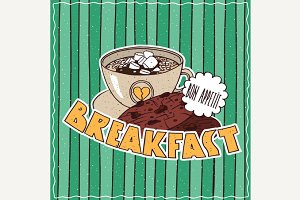 Food poster with Coffee Breakfast