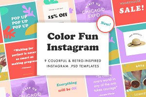 Color Fun Instagram Templates