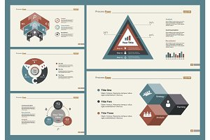 Six Business Charts Slide Templates Set