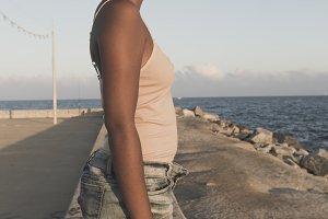 Afro-american woman portrait