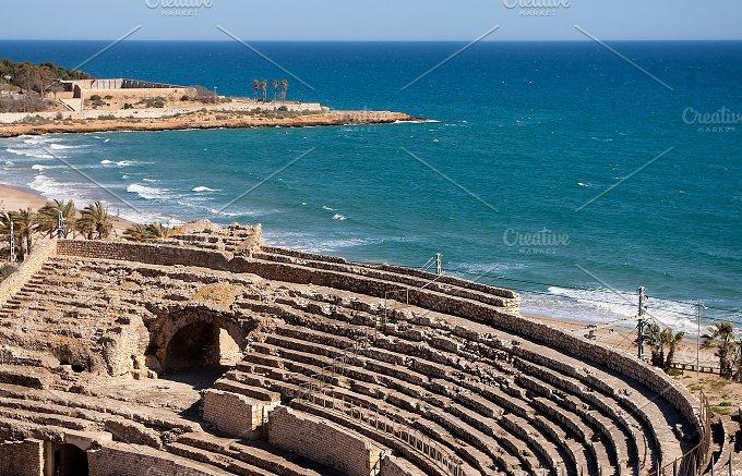 Roman amphitheater of Tarragona.Spai - Architecture