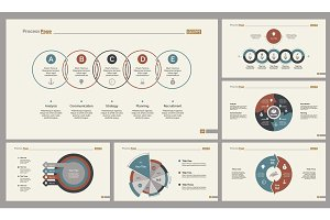 Six Business Slide Templates Set