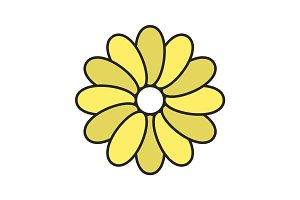 Chamomile color icon