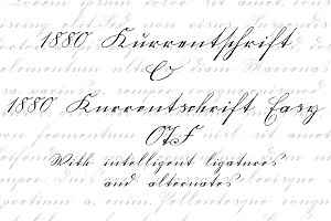 1880 Kurrentschrift set OTF