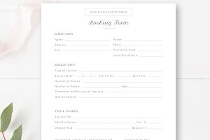 Photographer Booking Form PSD
