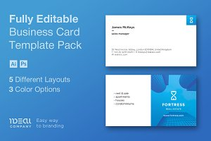 Real Estate Business Card – Fortress