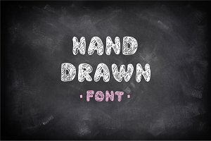 Hand Drawn Chalked Font