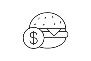Buy hamburger linear icon