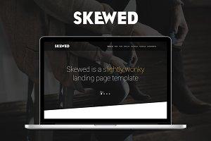 Skewed - Landing Page Template