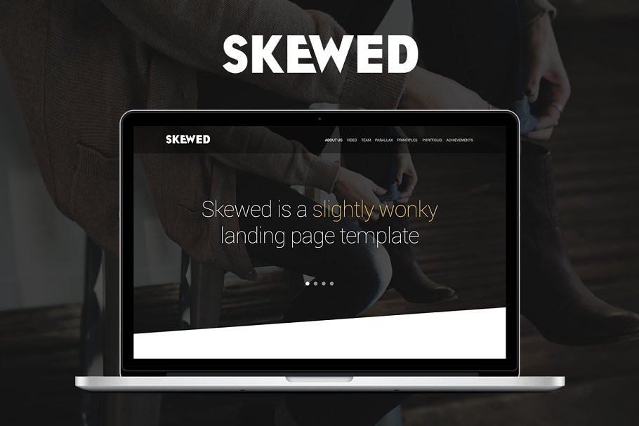 Skewed - Landing Page Template ~ HTML/CSS Themes ~ Creative