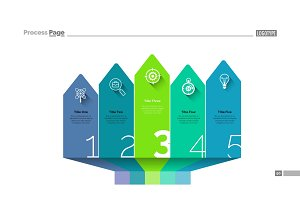 Arrow design infographics slide template
