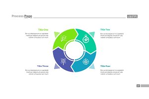 Circle infographics slide template