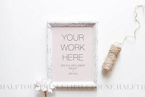 Rustic Styled Frame Mockup