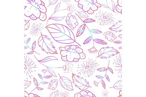 forest flower pattern