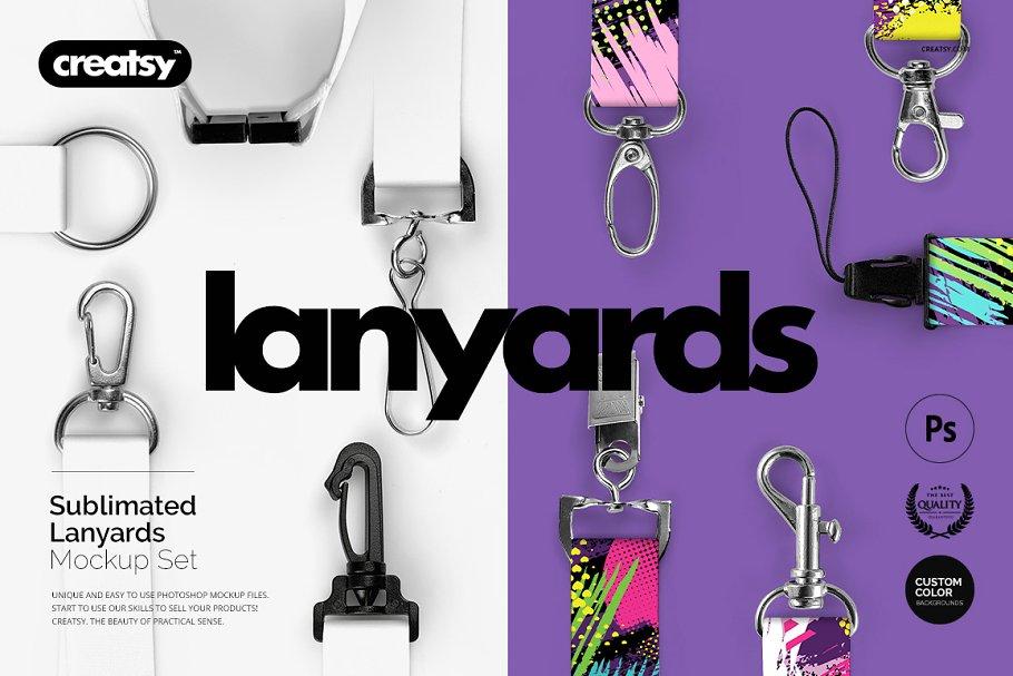 d17c8dac44a70 Lanyards Sublimated Mockup Set ~ Product Mockups ~ Creative Market