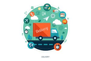 Delivery. Business Illustration