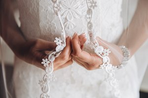Hands of the bride