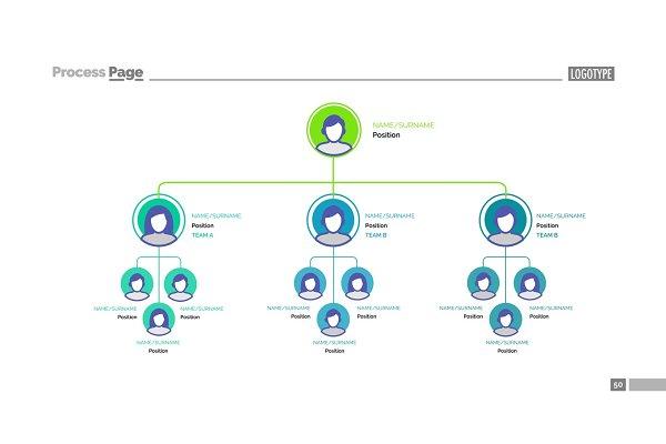 Organizational chart slide template