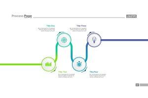 Timeline infographics slide template