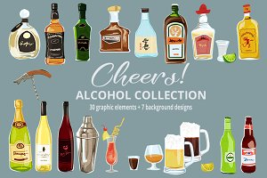 Cheers! Alcohol & Cocktails Clipart
