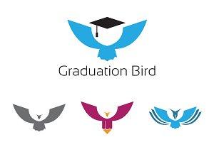 4 Simple Eagle Bird Education Logo