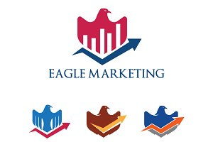 4 Eagle Hawk Marketing Graph Logo