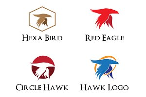 4 Great Eagle Flying Logo Variation