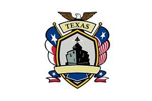 Texas Navy Battleship Flag Icon
