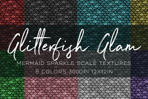Glitterfish Mermaid Scales Textures