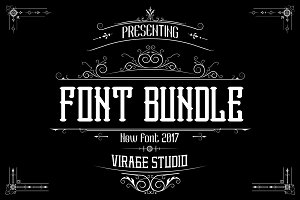 Font Bundle 75% Off