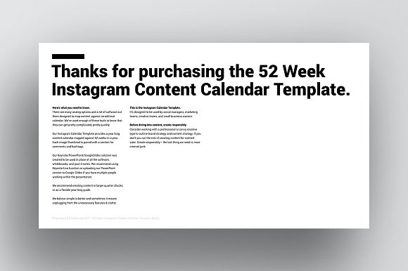 Instagram Content Calendar Templates Creative Market - Instagram calendar template