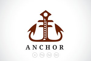 Elegant Anchor Logo Template