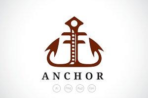 Elegant Anchor Logo Template