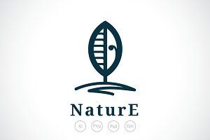 Leaf And Tree Logo Template