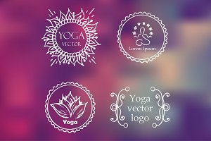 Yoga set of logos