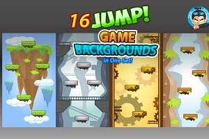 Jump/ Vertical Game Backgrounds Pack