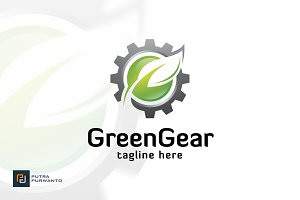 Green Gear - Logo Template
