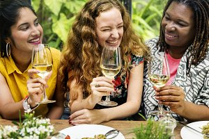 Woman friends hanging out together