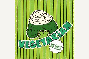 Food poster with Vegetarian