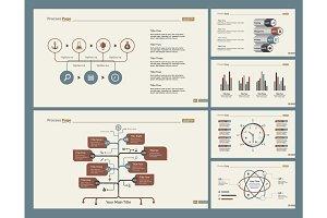Six Logistics Diagrams Slide Templates Set