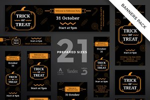 Banners Pack | Trick Or Treat