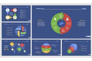 Six Logistics Slide Templates Set