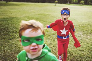Superhero Cheerful Kids