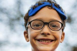 Superhero Cheerful Kid